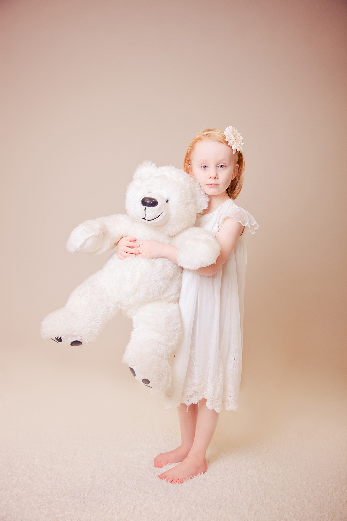classical portrait girl with bear, Chester children's photographer, cheshire family photography