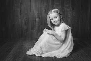 black & white classical portrait little girl, Hawarden north wales photographer