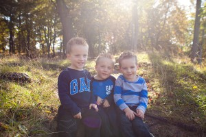triplet boys outdoor photo, Twins & multiples photographer North Wales