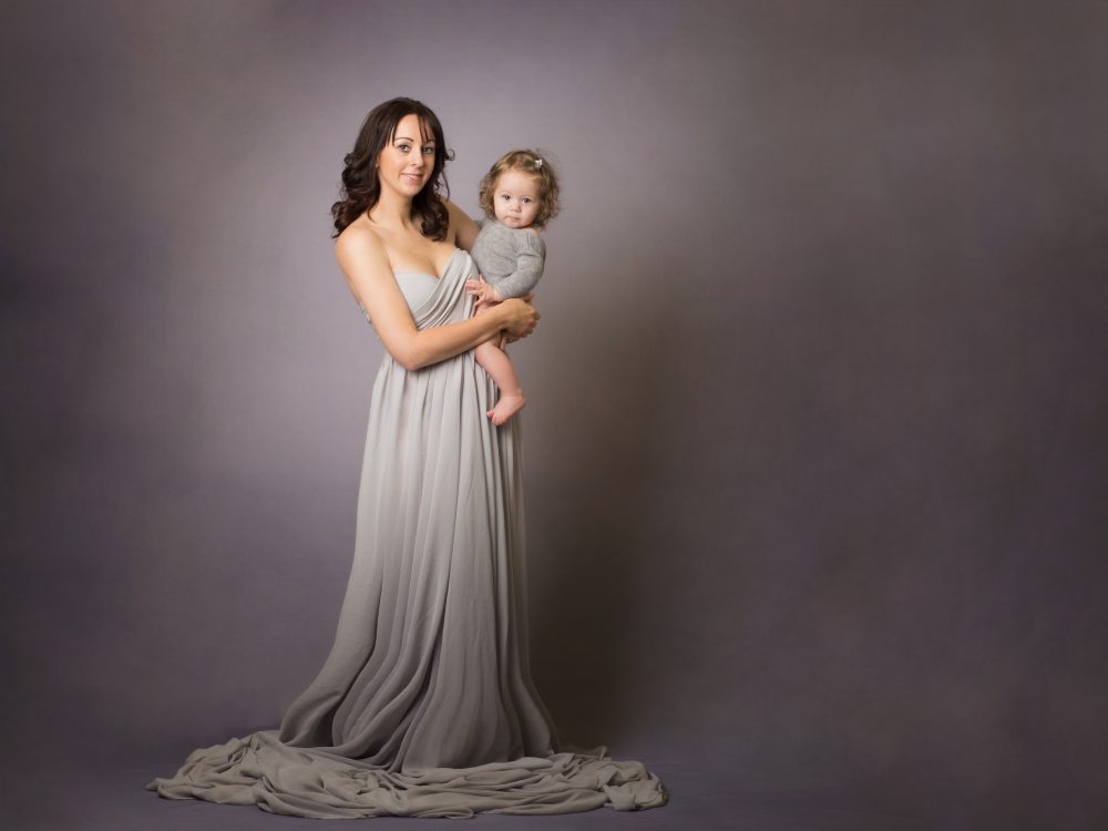 glamorous mum & daughter studio portrait, Cheshire photographer, chester photography studio