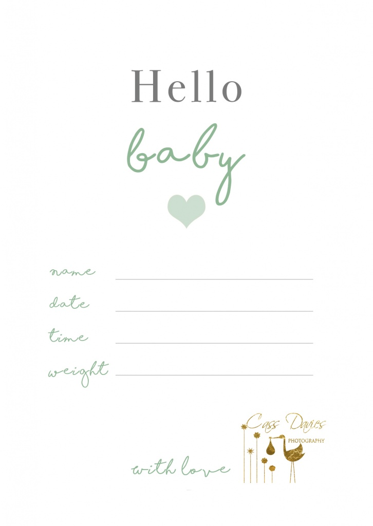 Free Baby Announcement Card – Hello Baby!