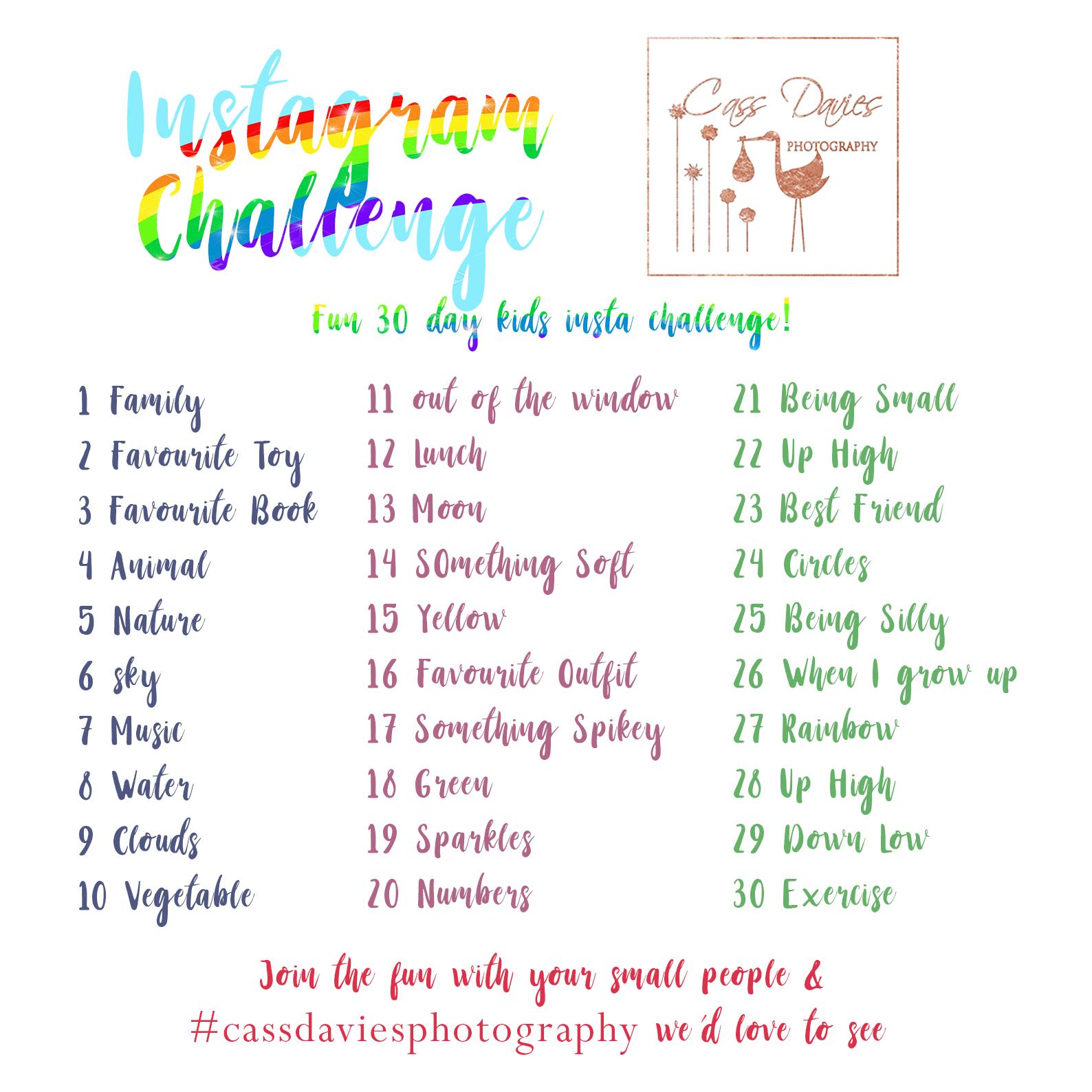 kids instagram challenge