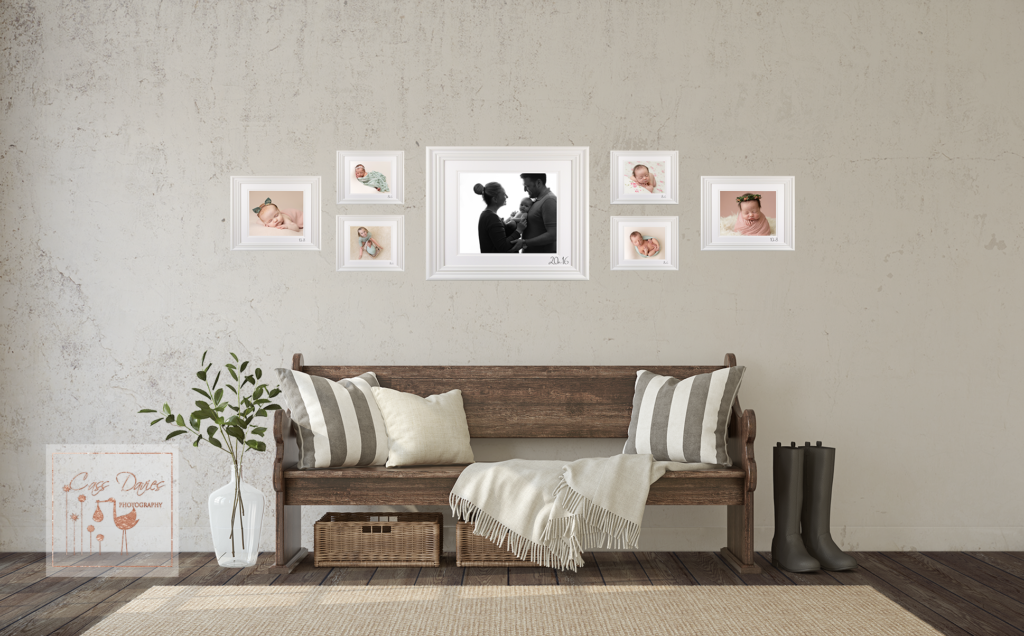 create a gallery wall, photographer chester, newborn photographer, baby photographer
