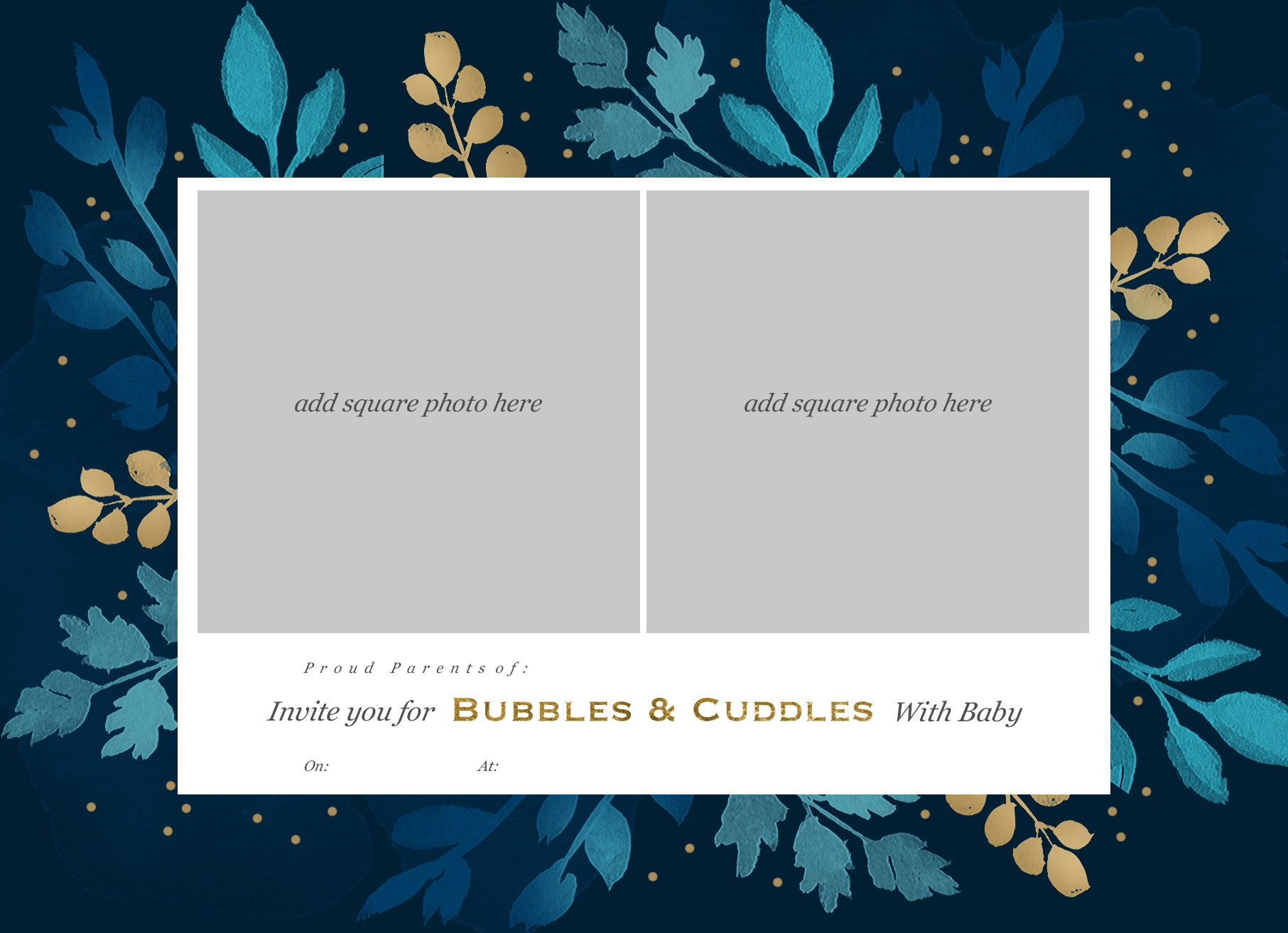 bubbles & cuddles invitation, baby shower invite
