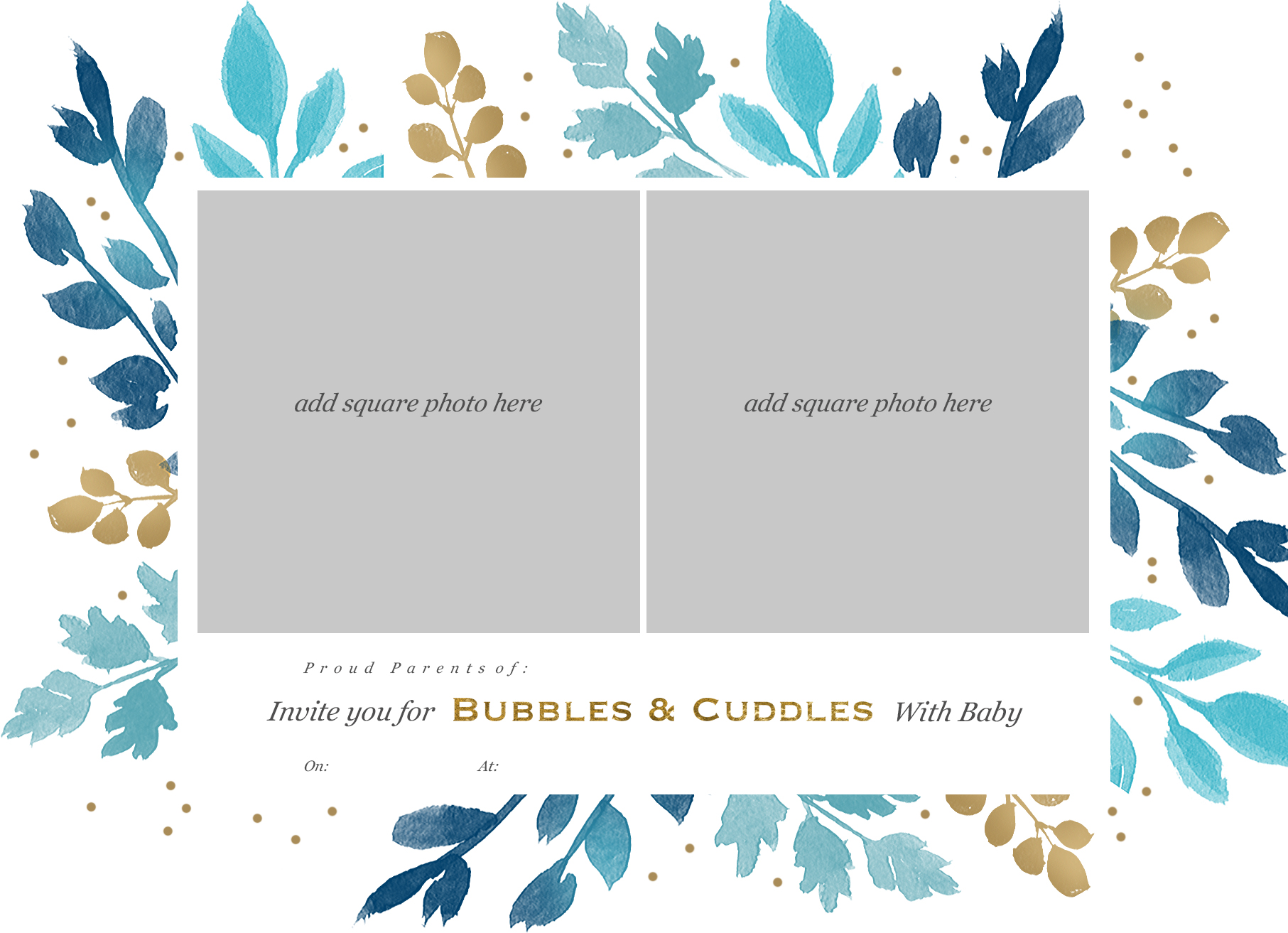 alternative baby shower bubbles and cuddles invite