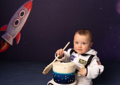 Space theme cake smash